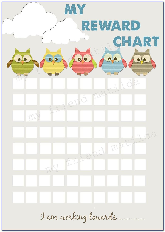 Toddler Sticker Reward Chart Printable