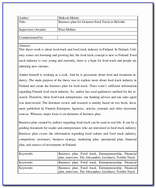 Or Business Plan Template For Trucking Company