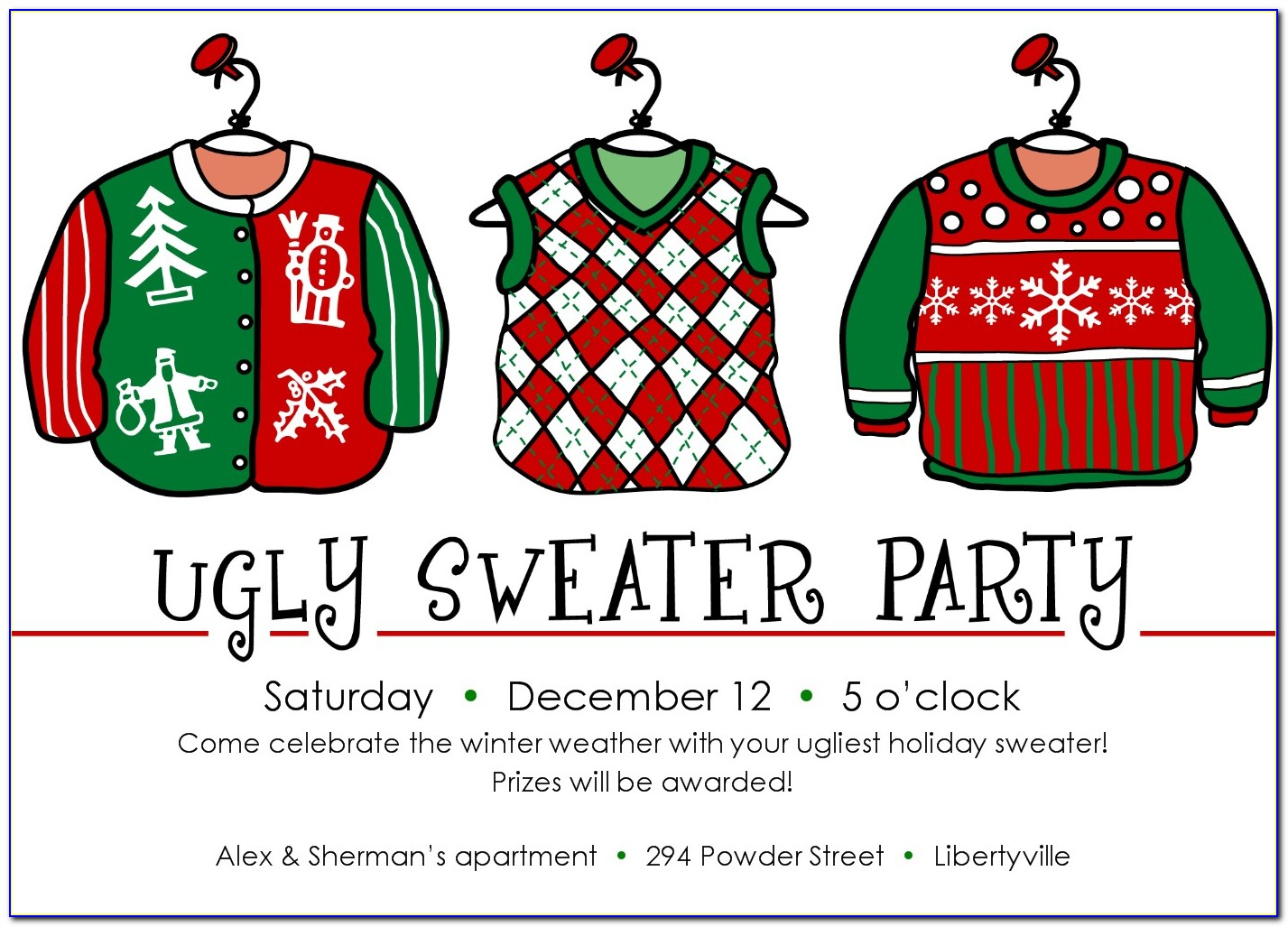 Ugly Christmas Sweater Certificate Template