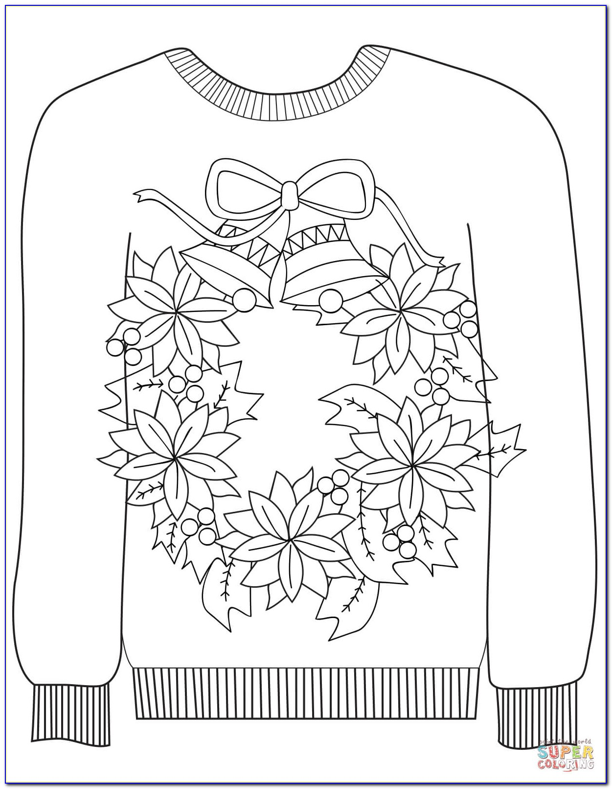 Ugly Christmas Sweater Template Pdf
