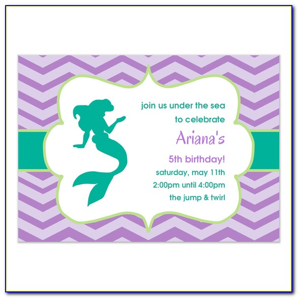 Under The Sea Birthday Invitation Templates