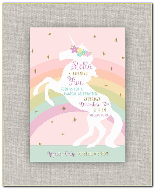Unicorn Birthday Invitation Maker