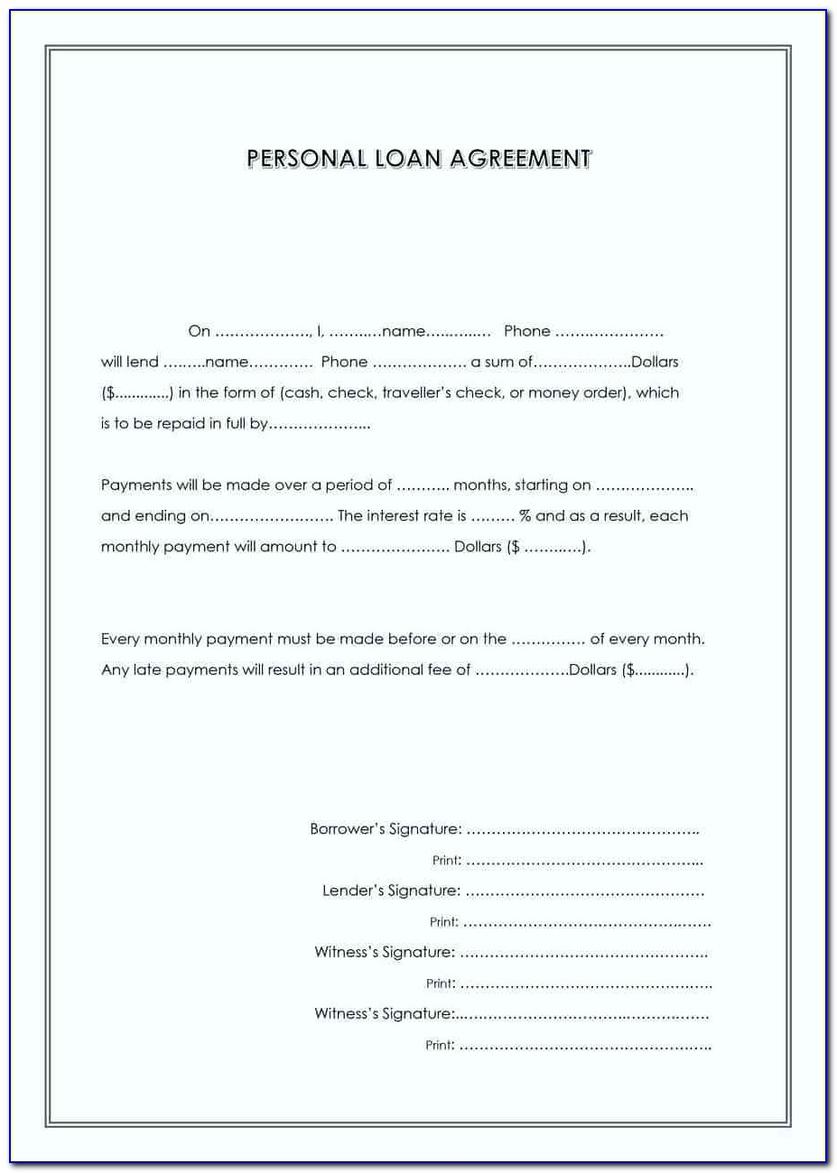Unsecured Loan Agreement Template Australia
