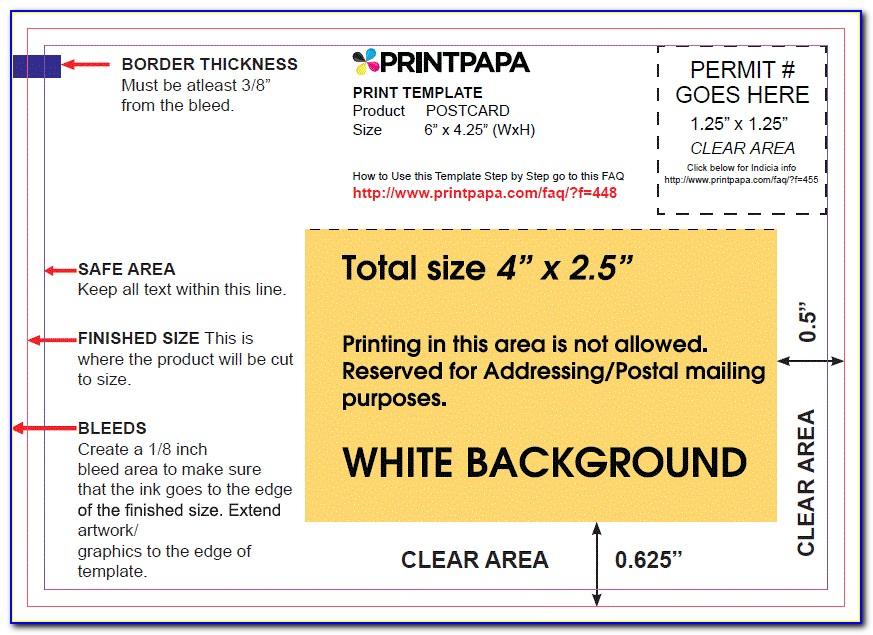 Usps 6 X 4 Postcard Template