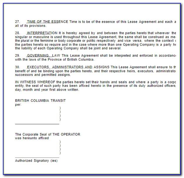 Vehicle Lease Agreement Template Australia