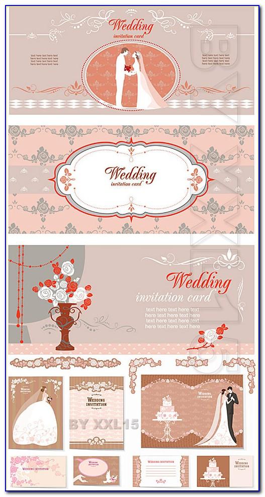 Vintage Wedding Invitation Card Template Free Download