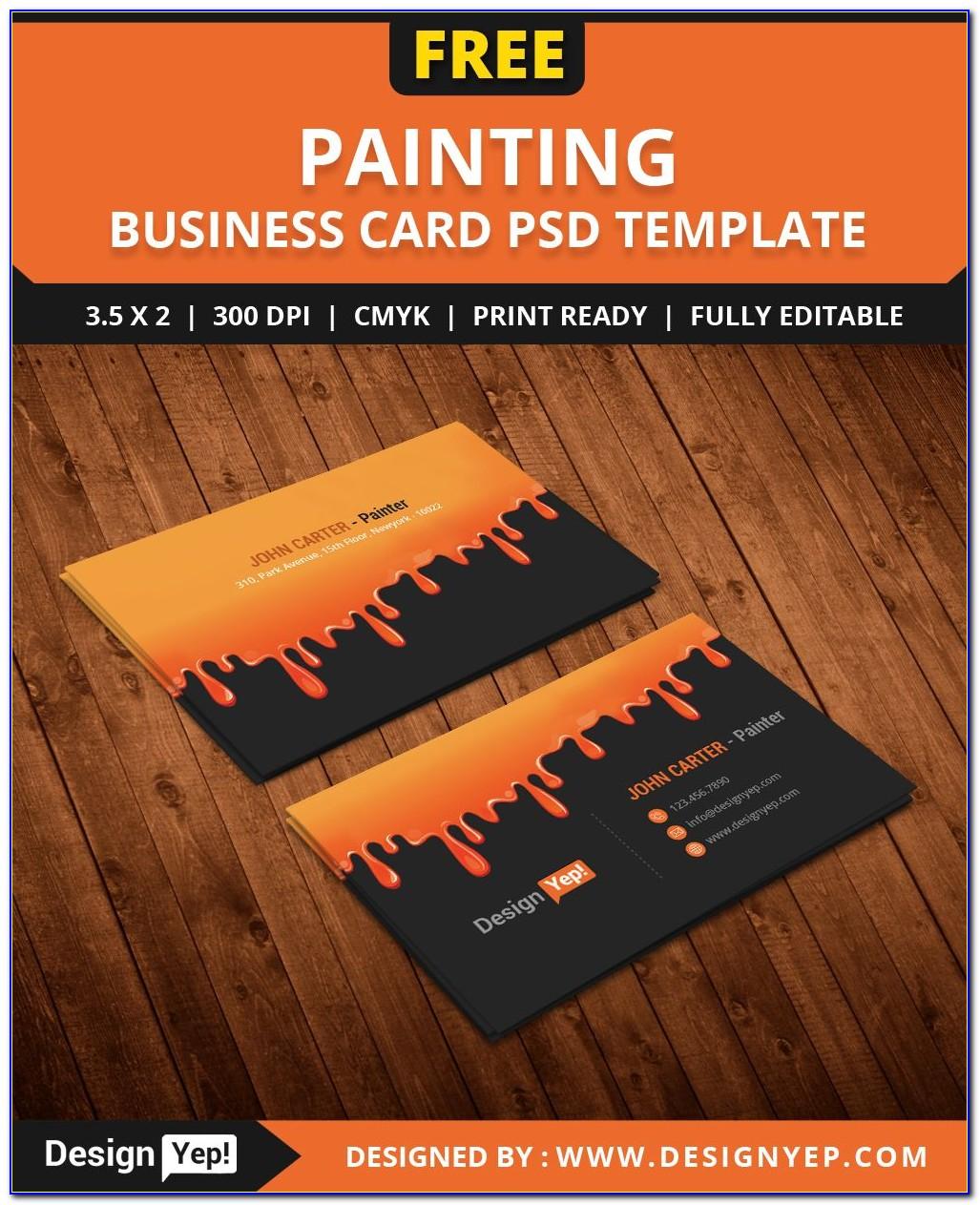 Vistaprint Business Card Template Size