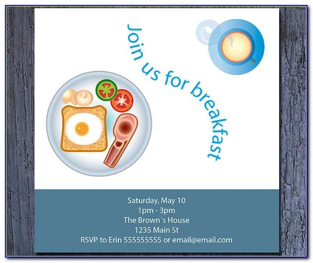 Volunteer Breakfast Invitation Template