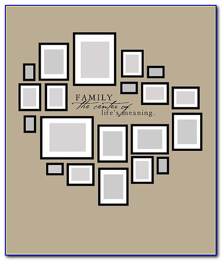 Wall Photo Collage Layout Template