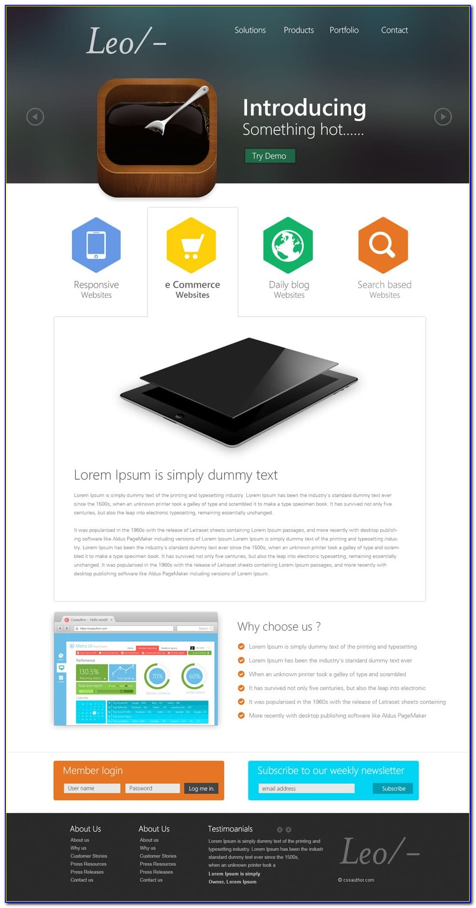 Web Page Templates Free