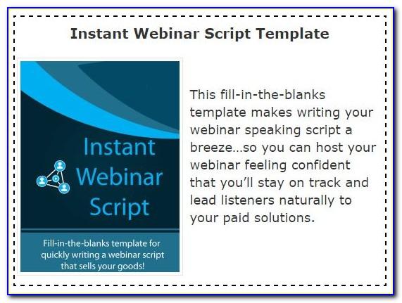 Webinar Script Example