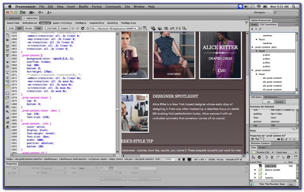 Website Template For Dreamweaver Cs6