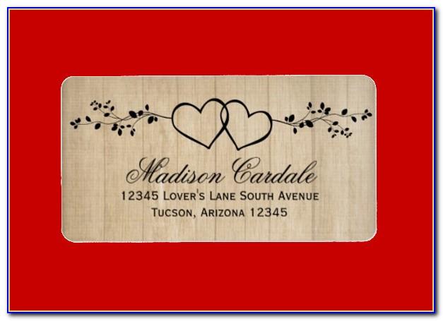 Wedding Address Label Template Excel