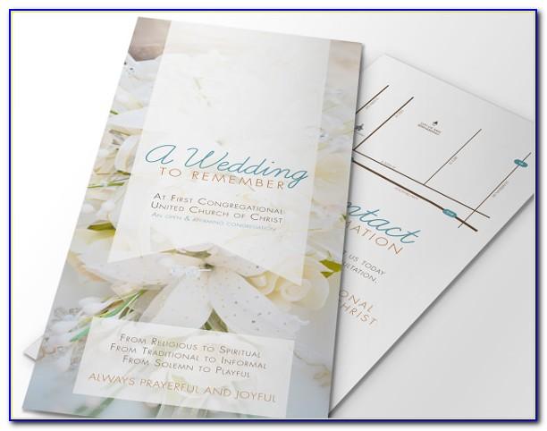 Wedding Cake Brochure Templates