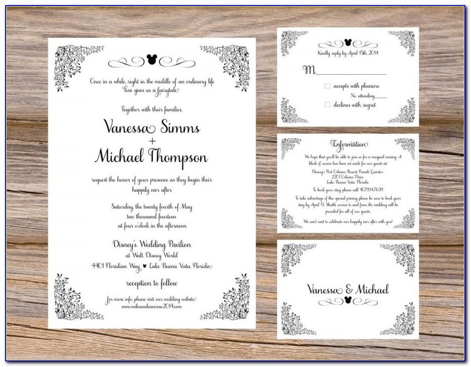 Wedding Card Insert Template Free