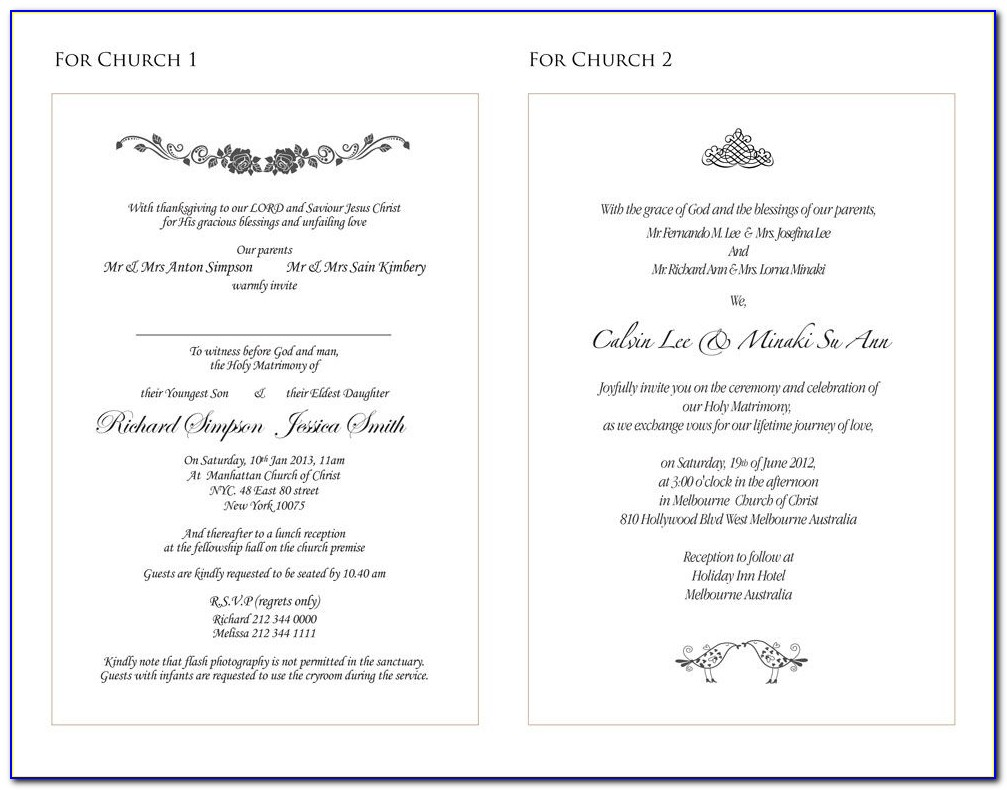 Wedding Details Insert Template