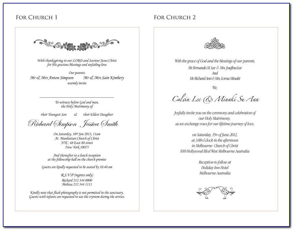 Wedding Details Insert Template