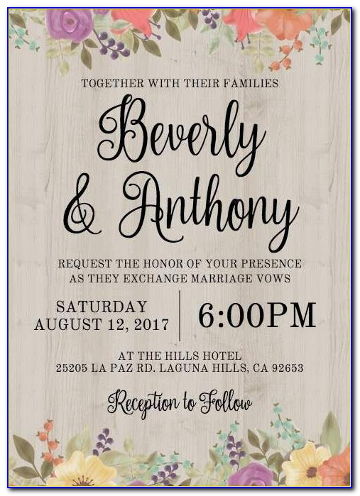 Wedding E Invites Templates Free