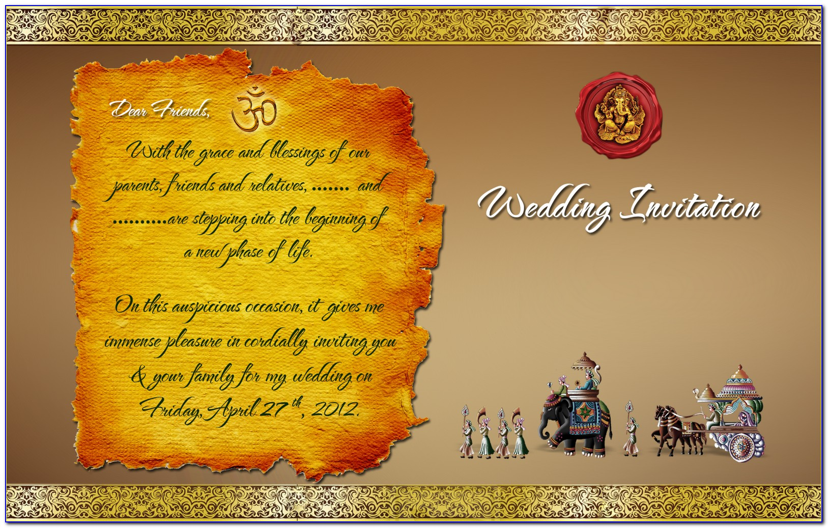 Wedding Invitation Card Template Free Download Psd