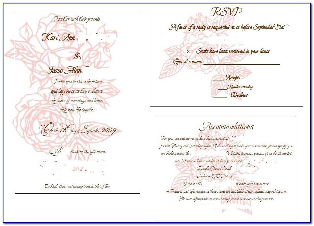 Wedding Registry Insert Template