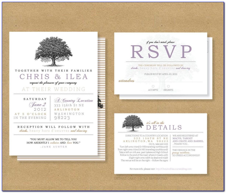 Wedding Rsvp Card Example