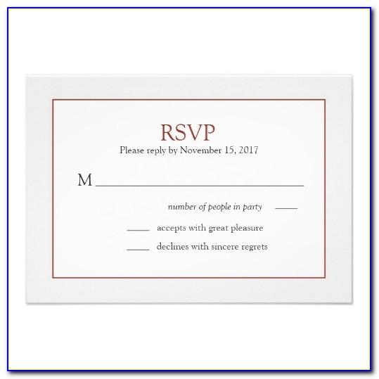 Wedding Rsvp Card Examples