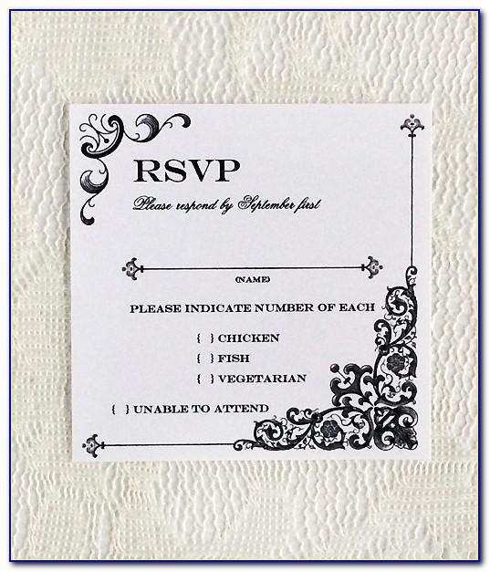 Wedding Rsvp Card Sample