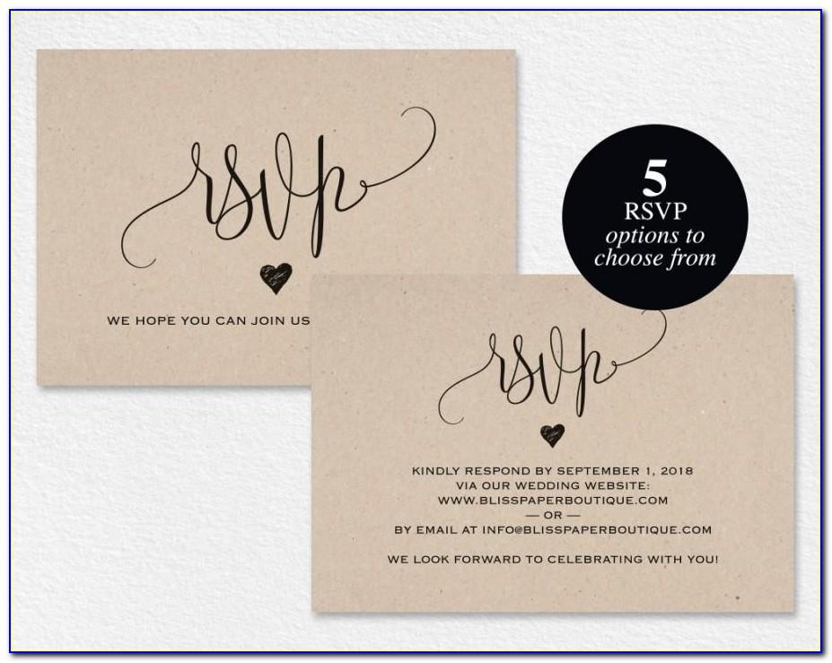 Wedding Rsvp Card Samples