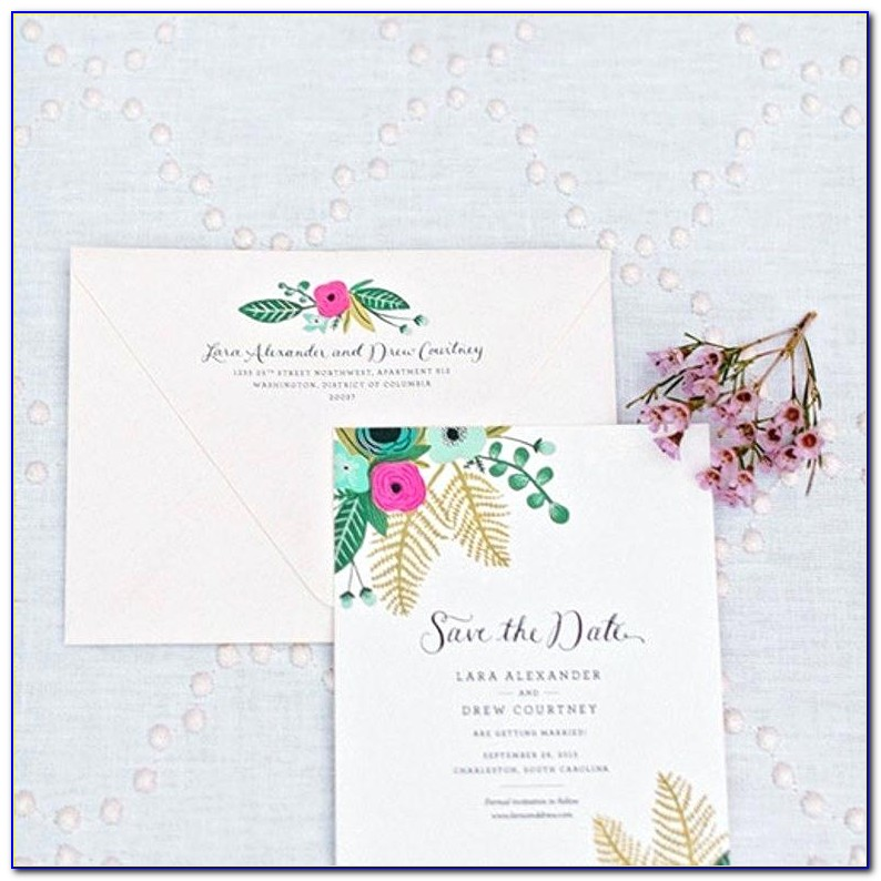 Wedding Save The Date Email Sample