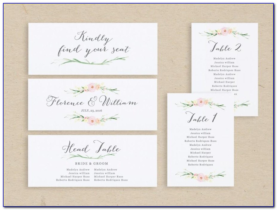 Wedding Seating Name Cards