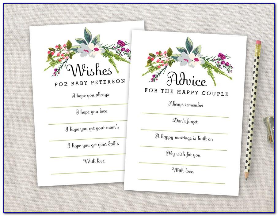 Wedding Shower Advice Cards