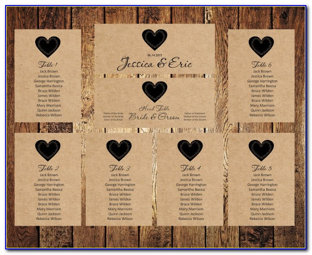 Wedding Top Table Seating Plan Template Uk