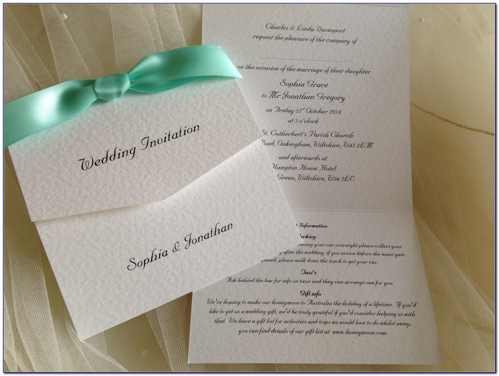 Wedding Tri Fold Invitation Templates