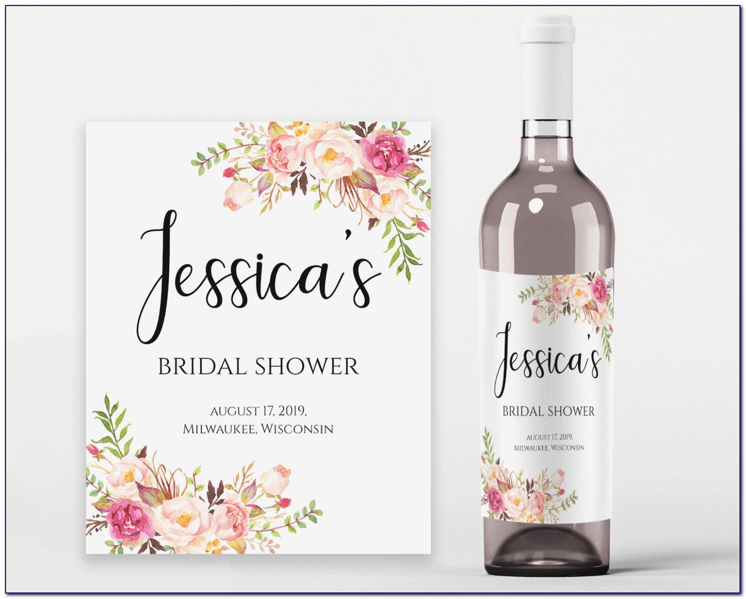 Wedding Wine Label Templates Free