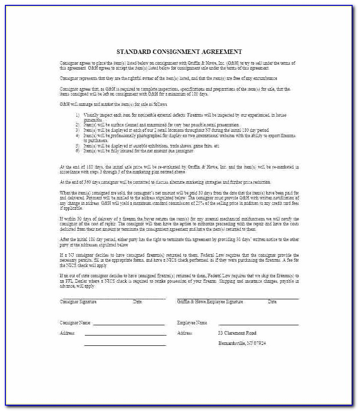 What Is A Consignment Stock Agreement