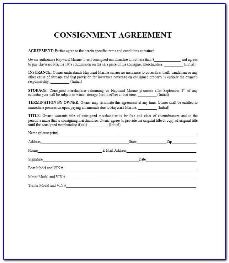 What Is Consignment Stock Agreement