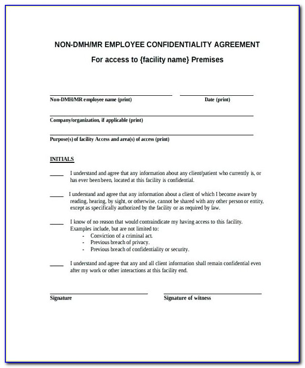 What Is Employee Non Disclosure Agreement