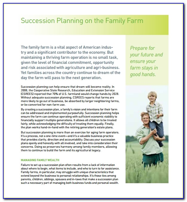 What Is Farm Succession Planning