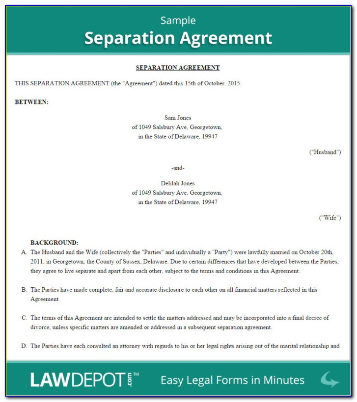 What Is Marriage Separation Agreement