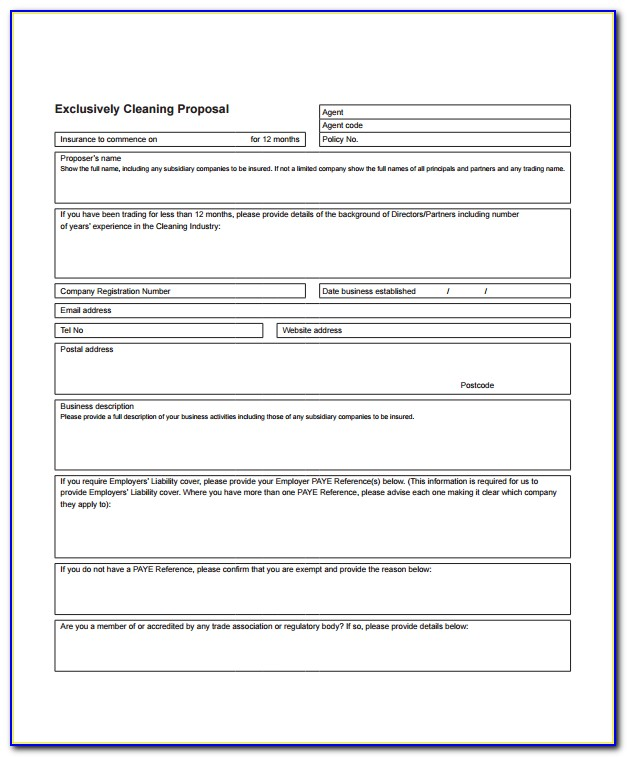 Window Cleaning Business Proposal Template