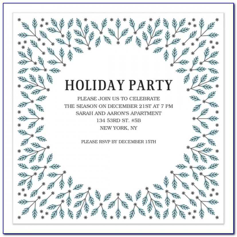 Winter Party Invitation Template Winter Party Invitation Template