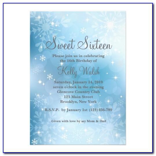 Winter Wonderland Birthday Invitation Templates