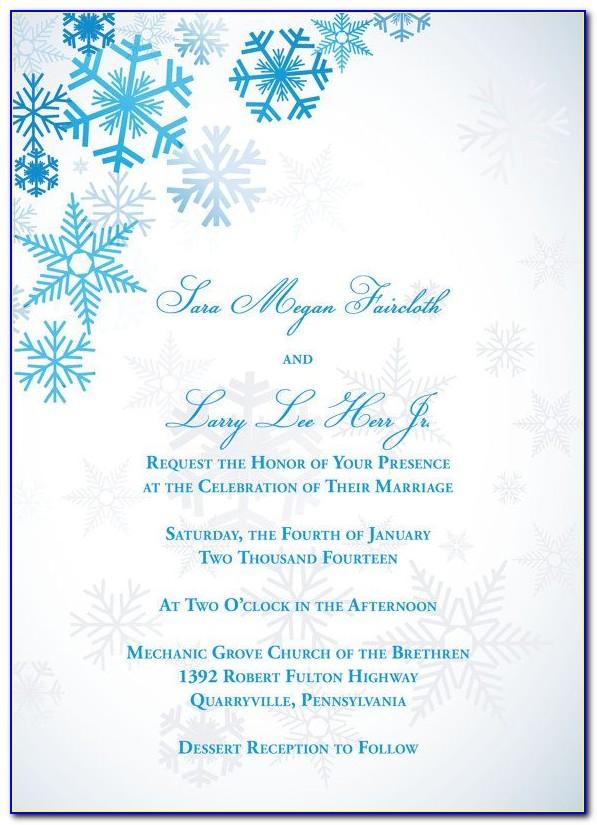 Winter Wonderland Invitation Templates