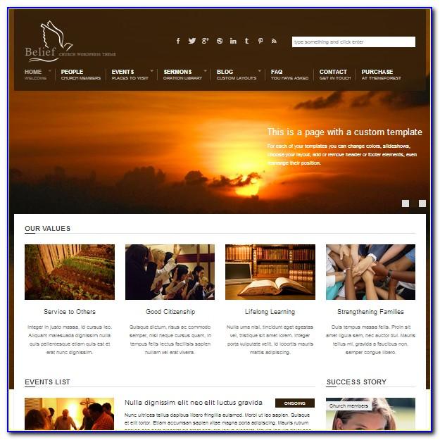 Wordpress Church Templates
