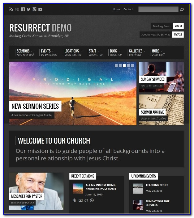 Wordpress Church Themes 2018