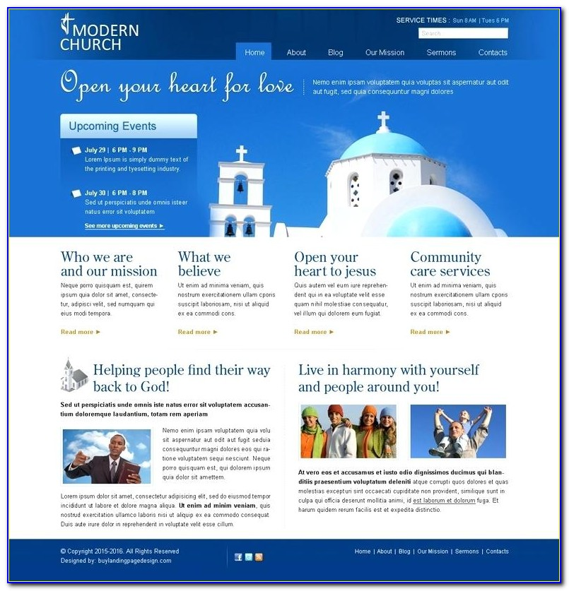 Wordpress Church Website Templates