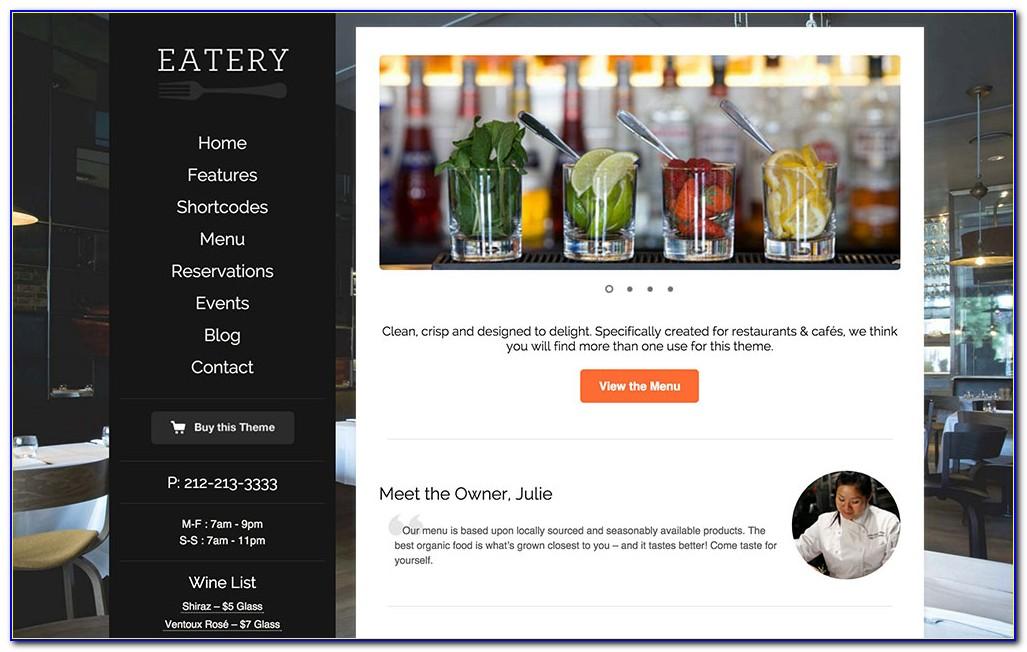 Wordpress Template Restaurant