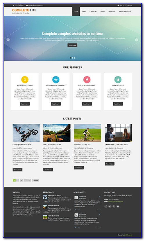 Wordpress Templates Premium Free
