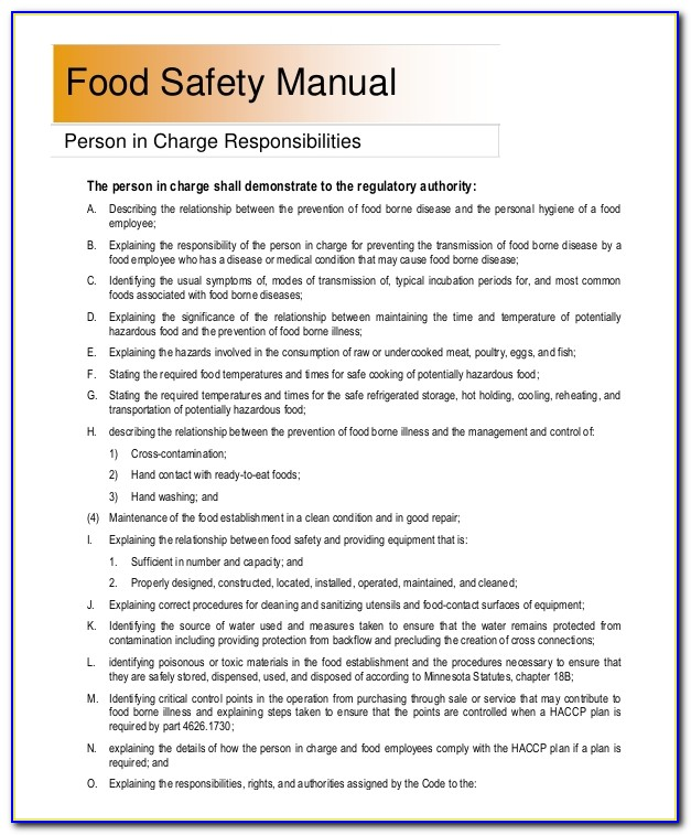 Workplace Safety Manual Example