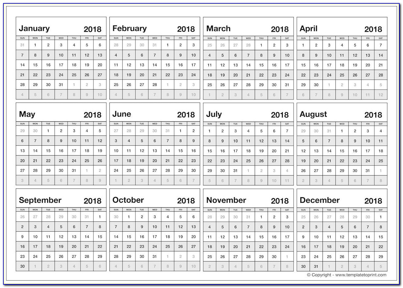 Editable 2018 Calendar Uk Printable With Holidays Year At A Glance